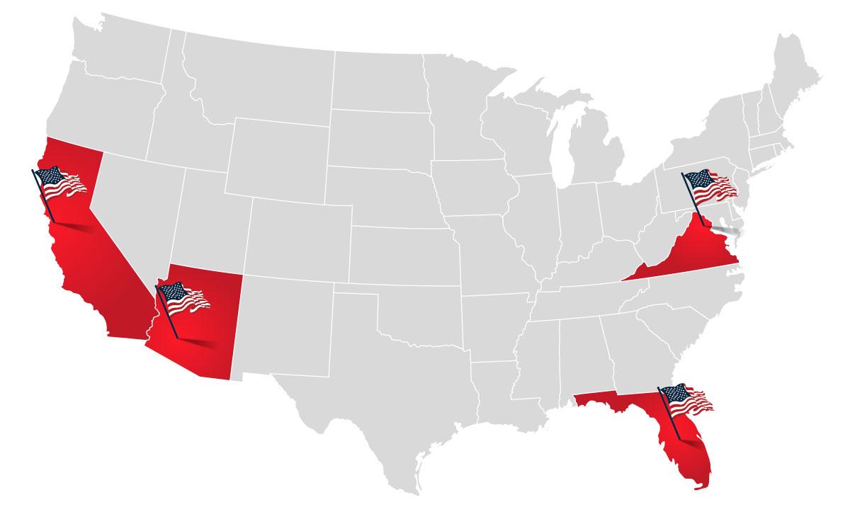 Patriot Defense Locations